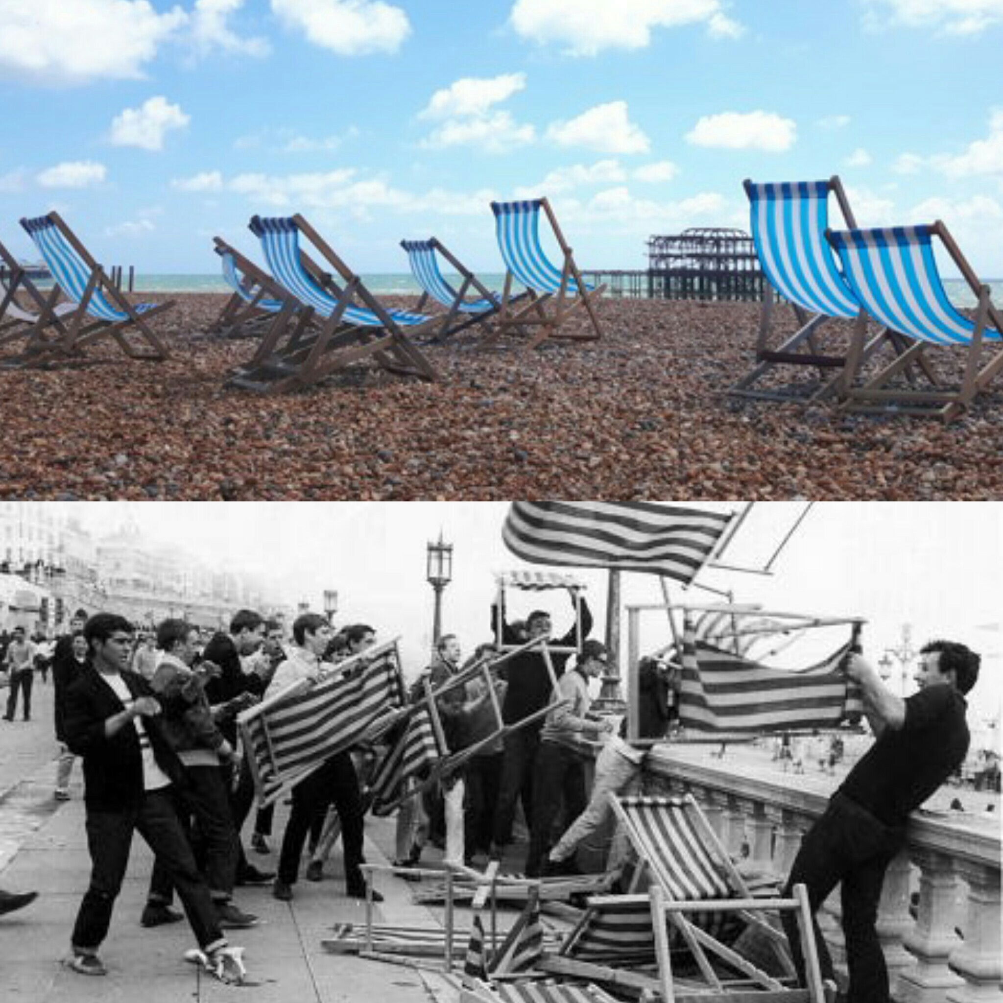 Brighton Beach - Deckchairs