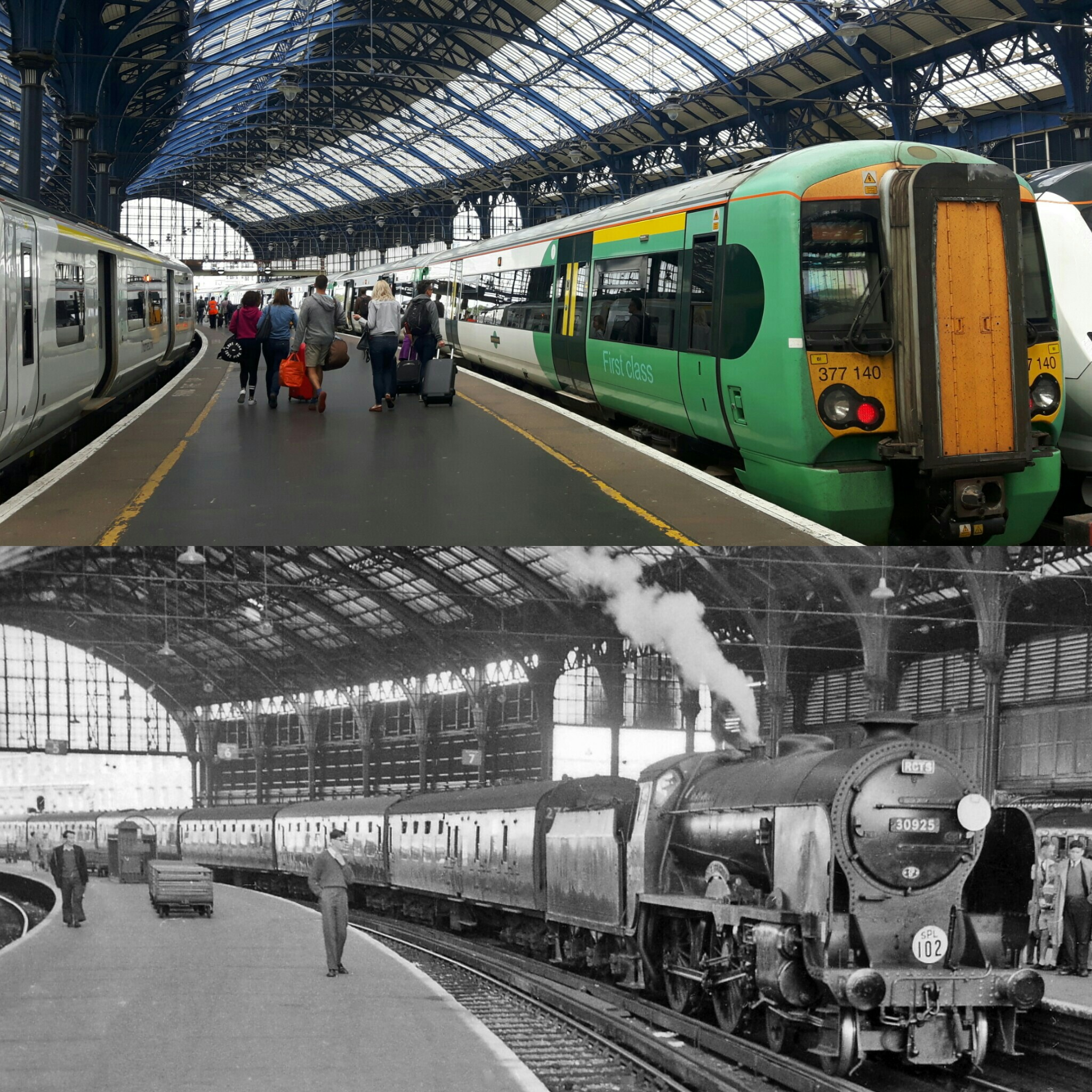 Trains in Brighton Station