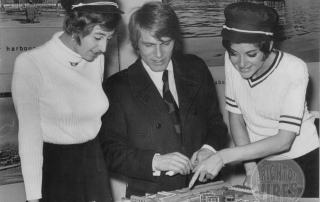 Adam Faith @ Brighton Marina viewing the Brighton Marina plans 14 November 1969