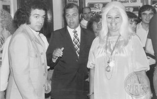 Diana Dors and Alan Lake at the Worthing Connaught Theatre 1974